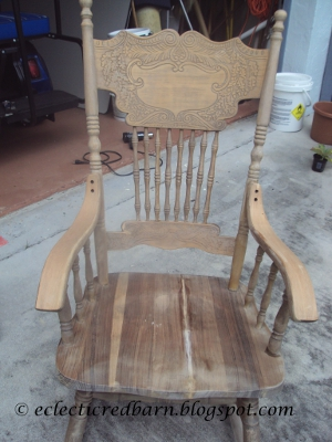 Eclectic Red Barn: Rescued rocking chair after being glued