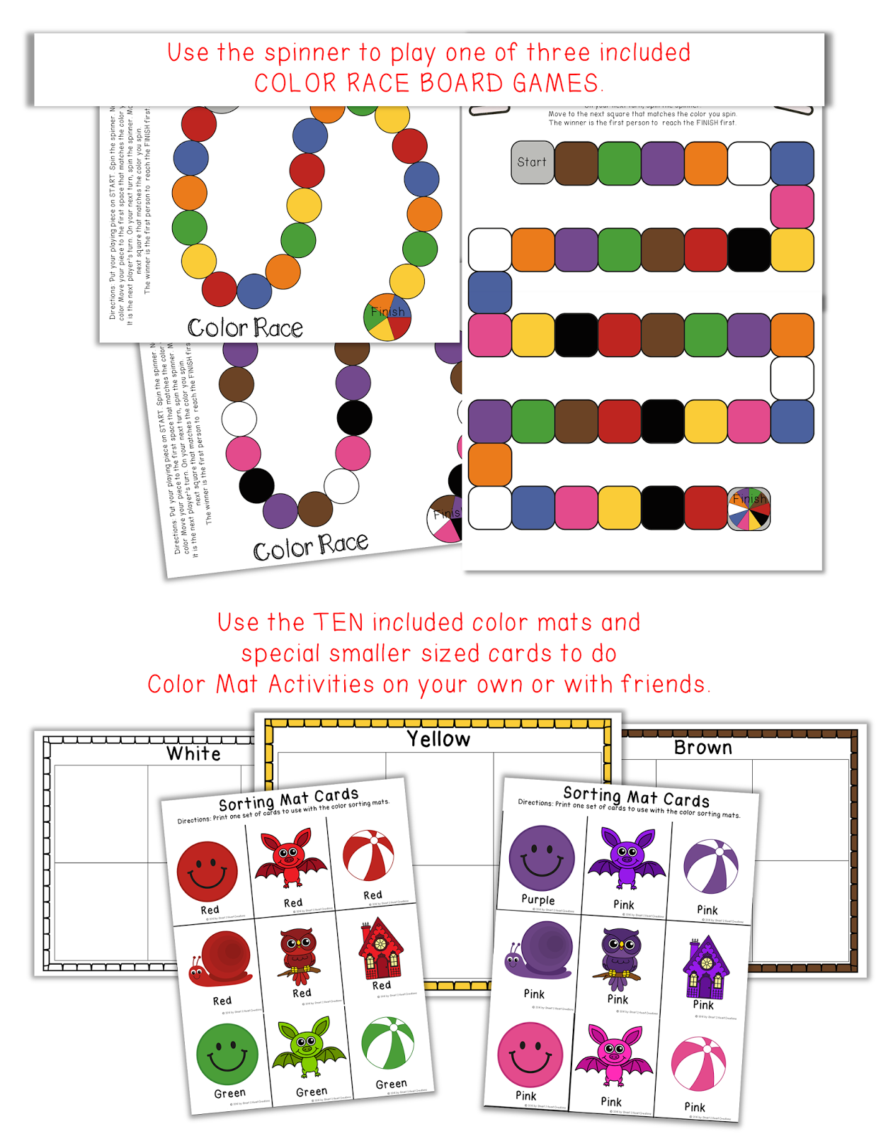Spin And Match Colors Activity Set