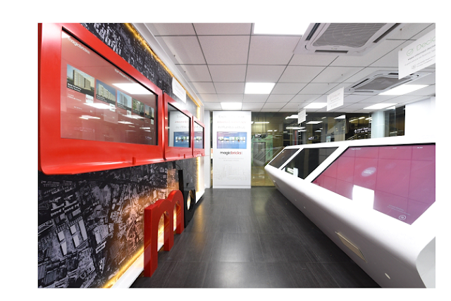Image4: The above screen is another view of the inside of the experience centre