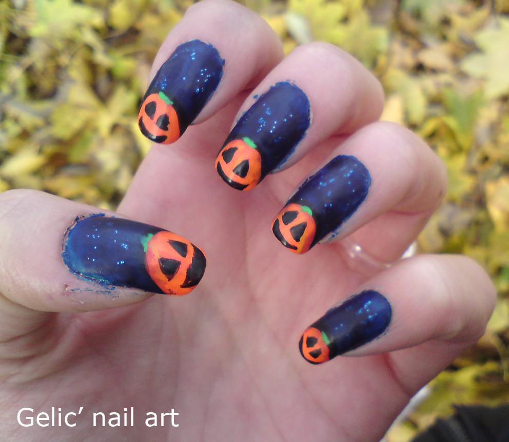 October Nail Art: Gelic' Nail Art: October 2012