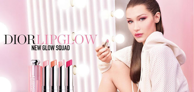 Bella Hadid For Dior Lip Glow 2018 campaign