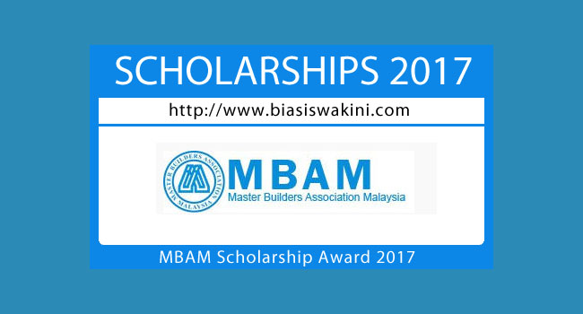 MBAM Scholarship Award 2017