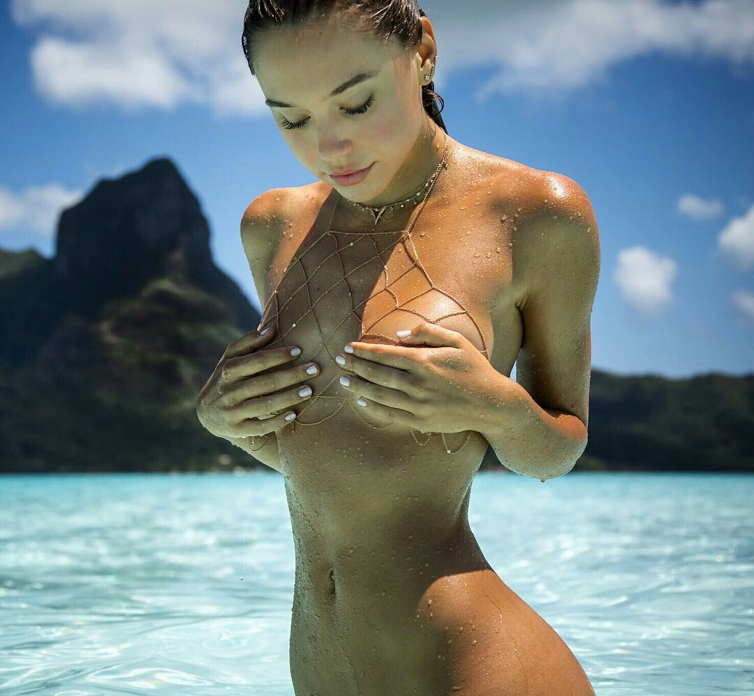 Watch Alexis ren topless and sexy video