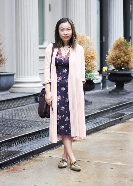 vintage slip dress floral print