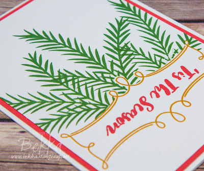 Fast and Fabulous Christmas Card Made Using the Christmas Pines Stamp Set from Stampin' Up! UK Free Tutorial Available