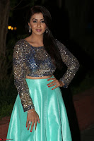 Nikki Galrani in Green Skirt  Top at Marakathamani music launch ~  Exclusive (16).JPG