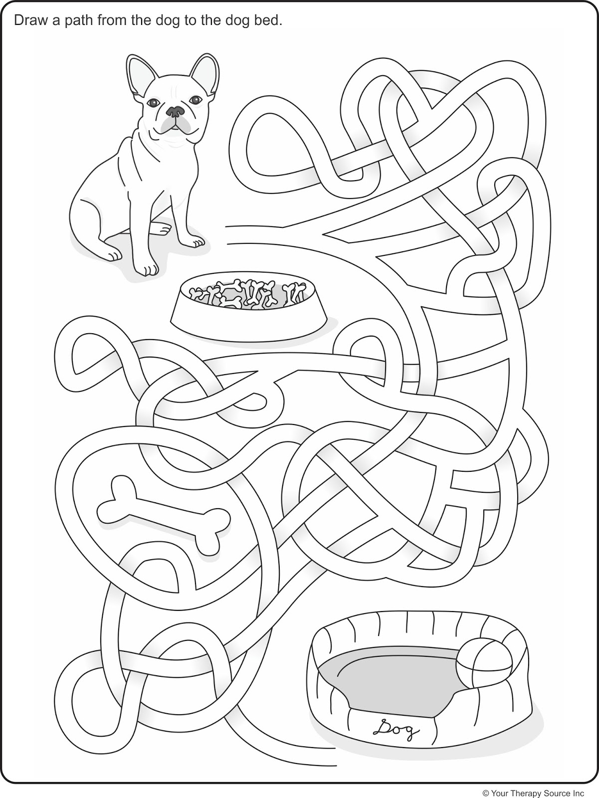 Growing Play Visual Spatial Dog Maze