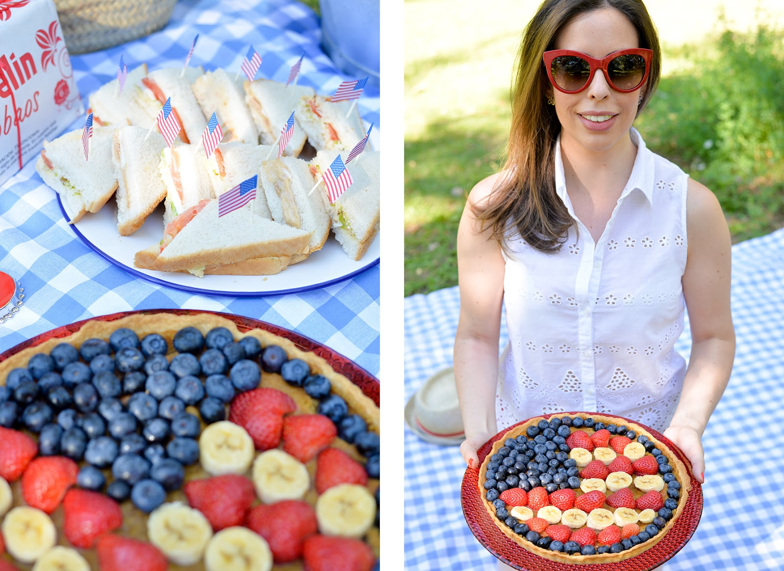 fourth of july picnic patriotic pie sandwiches