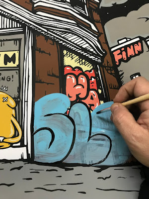 "Adventure Time x The Bear Champ ""Golden Time"" Hand Embellished Edition Screen Print by JC Rivera"