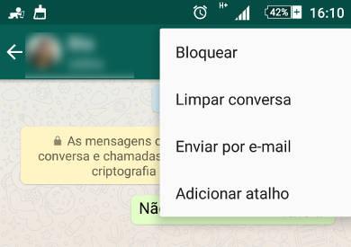 enviar conversas do WhatsApp por email