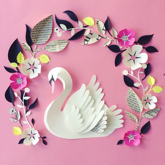 Paper Sculpture Flowers By Hanna Nyman Easy Arts And Crafts Ideas