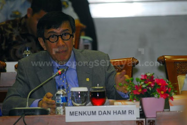 Yasonna: Kemungkinan Jokowi Tidak Akan Meneken UU MD3