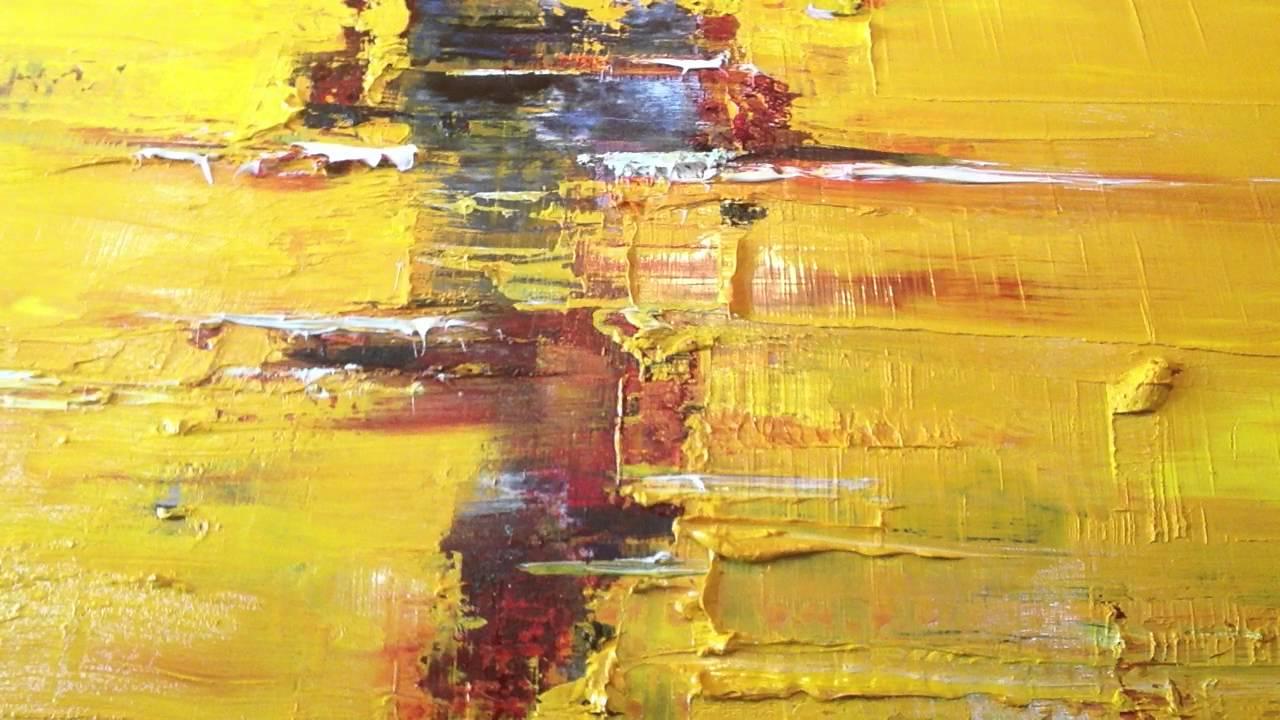 Lindas pinturas a óleo sobre tela com espátula