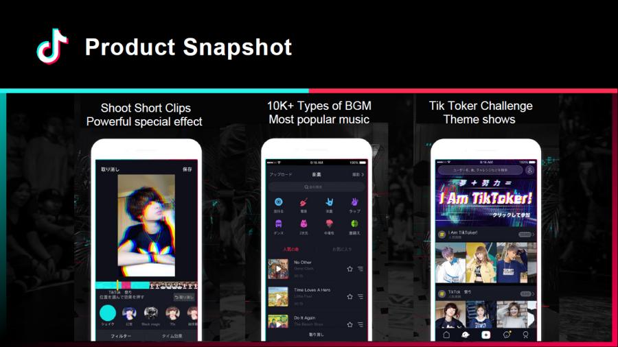 TikTok product snapshot