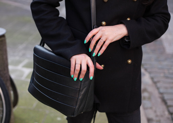& other stories handbag, mint nails