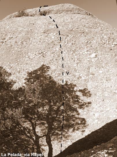 La Pelada, via Ràpel