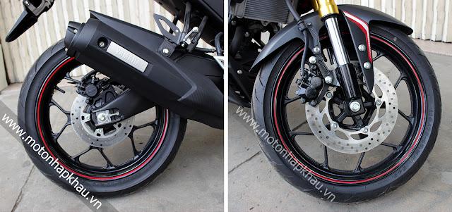 Bánh xe Yamaha M-Slaz - xe côn tay 150 phân khối.