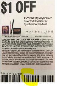 $1.00/1 Maybelline Eye Liner/Shadow coupon