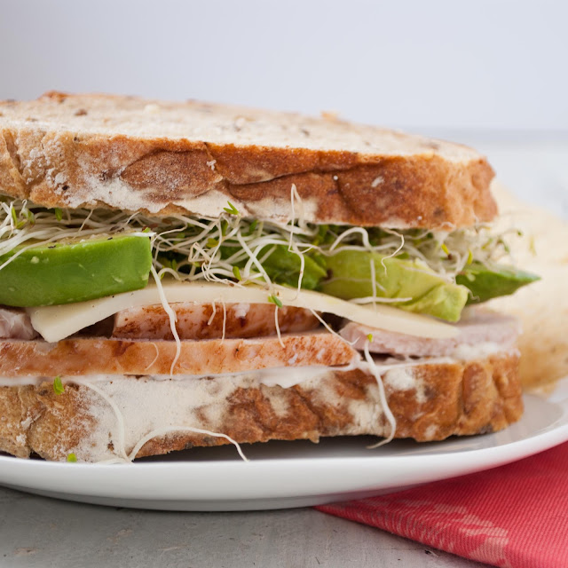Turkey, Avocado, and Sprout Sandwich Recipe | Neighborfoodblog.com