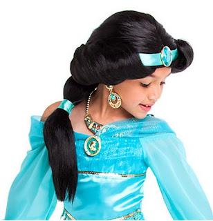 peluca para disfraz de  Jasmine
