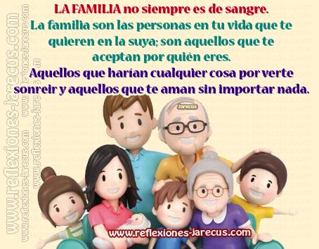 La familia no siempre es de sangre✅La familia son las personas en tu vida que te quieren en la suya; son aquellos que te aceptan por quién eres. Aquellos que harían cualquier cosa por verte sonreír