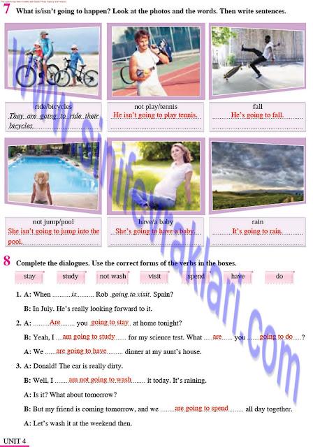 8. Sınıf İngilizce Çalışma Kitabı Cevapları Tutku Yayınları Sayfa 28