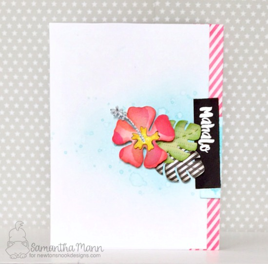 Hibiscus Mahalo card by Samantha Mann | Hibiscus Die set by Newton's Nook Designs #newtonsnook