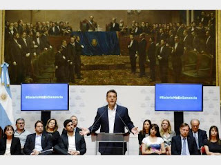 Sube el piso para pagar el impuesto a $48 mil para casados y 34 mil para solteros. Tras conocer la iniciativa, Macri resolvió enviar su plan hoy a Diputados. 