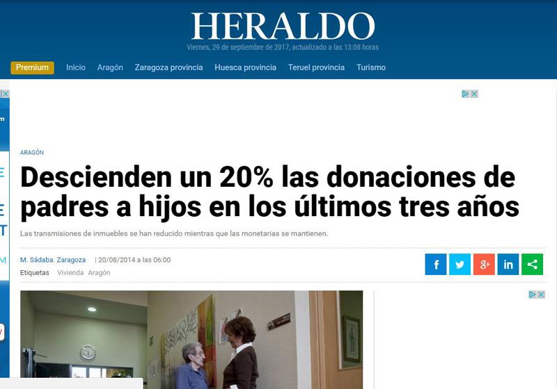 Las donaciones de padres a hijos descienden en los tres últimos años