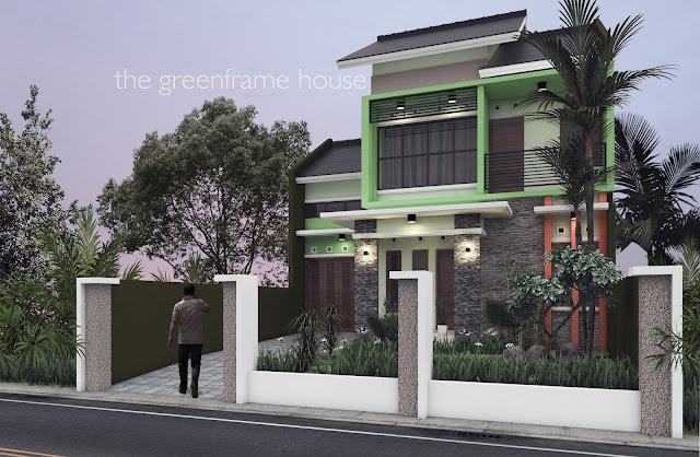 The Greenframe House, Desain Rumah Bpk. Trian Argono di Blitar