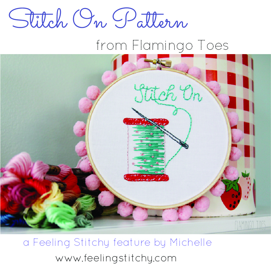 Stitch On Free Embroidery Pattern Feature Flamingo Toes