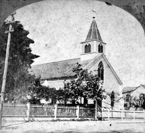 Floridamemory.com photo showing late 1800s image of St. Mary Roman Catholic Church in Key West