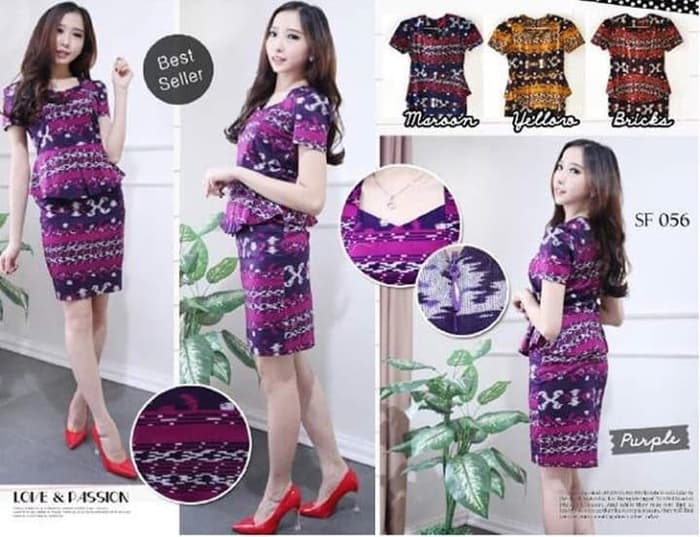 Dress Batik Motif Etnik (Melar Sampai L)