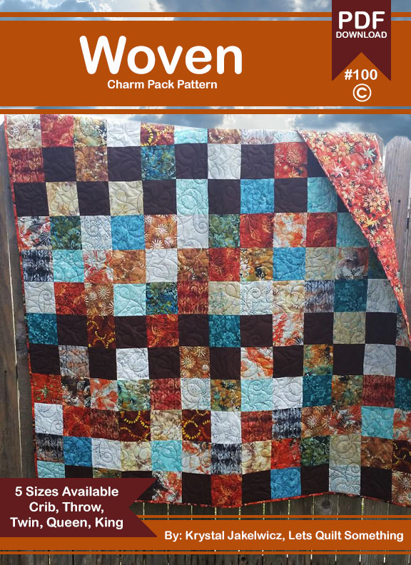 Lets Quilt Something: Woven - Quilt Pattern - Charm Packs