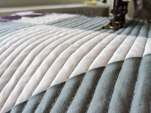 straight-line modern quilting | Lovely and Enough