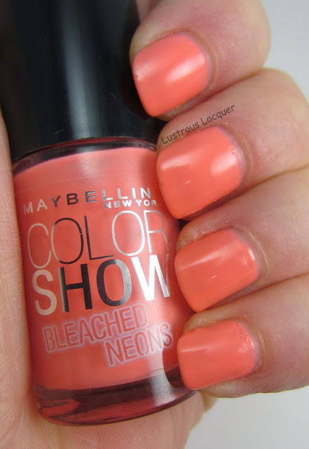 Maybelline Coral Heat Bleached Neons Collection