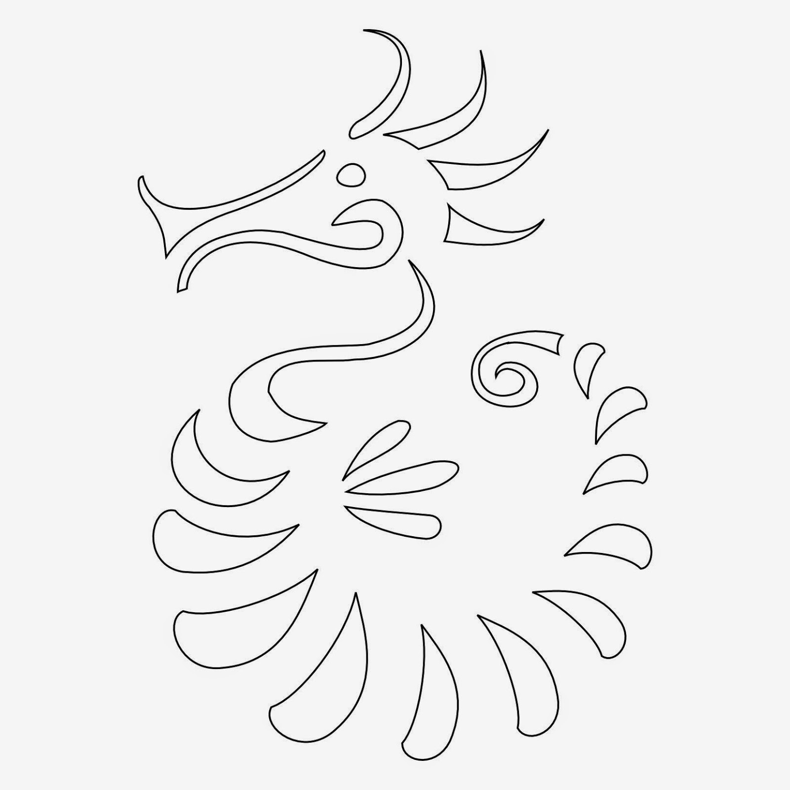 Seahorse tattoo stencil for shoulder
