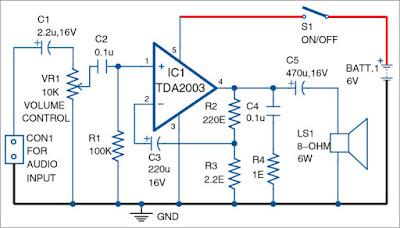 amplifier using TDA2003