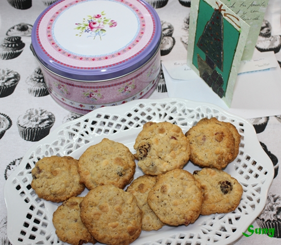 GALLETAS DE ARÁNDANOS Y CHOCOLATE BLANCO