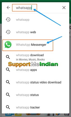 whatsapp in play store