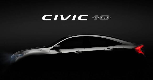 Novo Honda Civic 2017 - 10ª geração no Brasil
