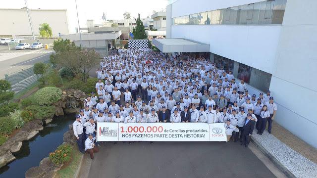 Toyota comemora 1 milhão de Corollas produzidos no Brasil