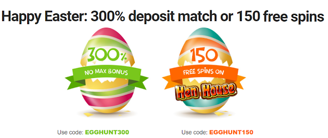 Easter casino bonus offers from RTG casinos | USA and AU accepted