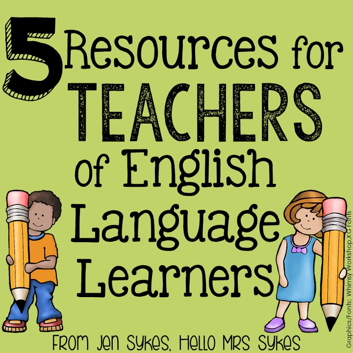 If you teach, you will eventually need this list of resources for teachers of ELLs. Pin it now, so you can find it later! Blog post from Hello Mrs Sykes.
