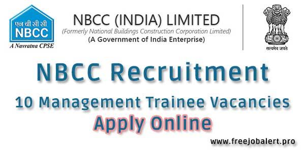 nbcc recruitment 2018 management trainee posts vacancies apply online