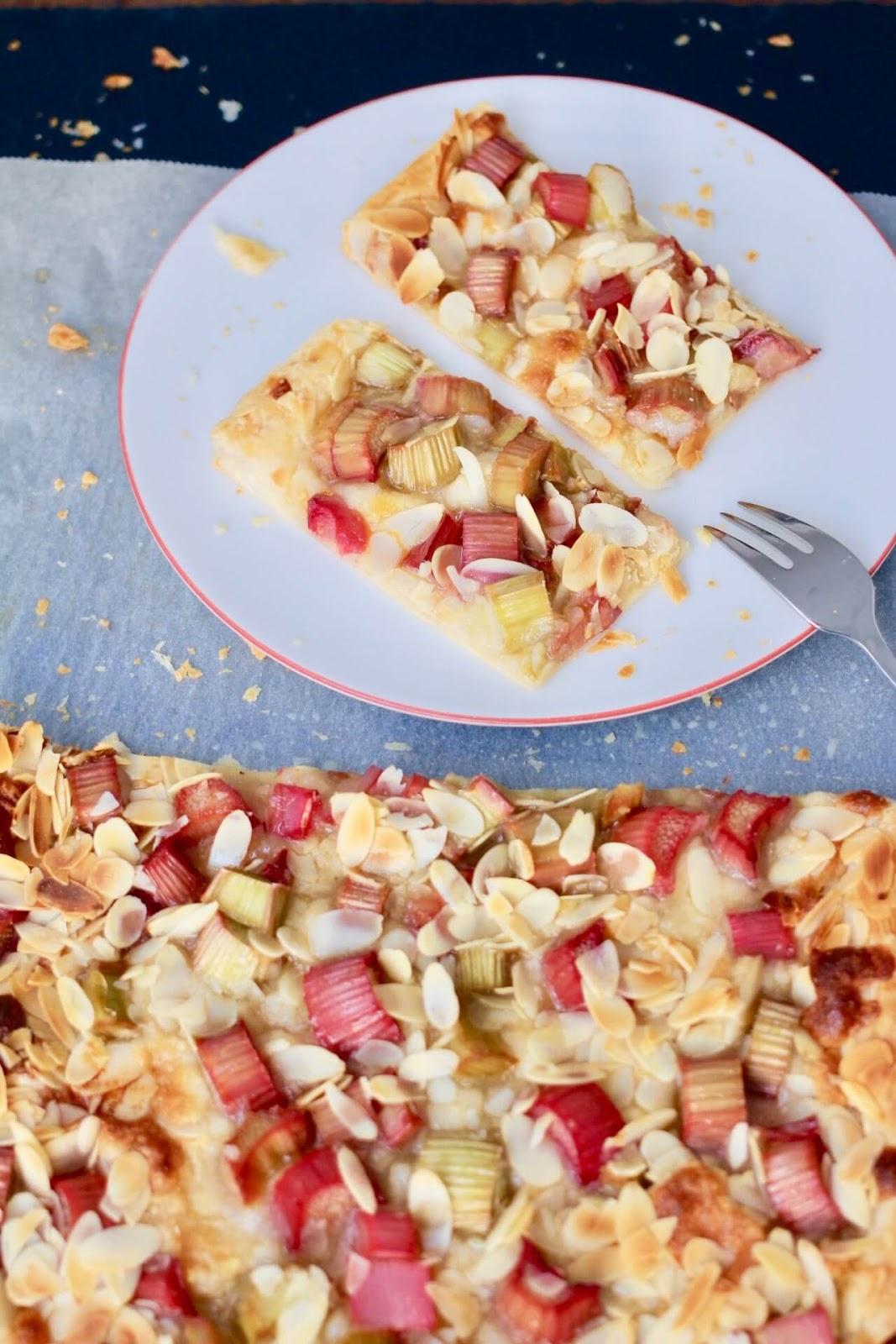 Rezept Rhabarber Marzipan Kuchen