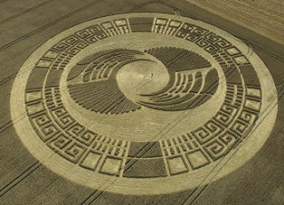 Photo d'un Crop Circle vu du ciel