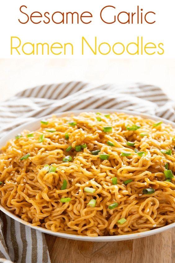 Sesame Garlic Ramen Noodles