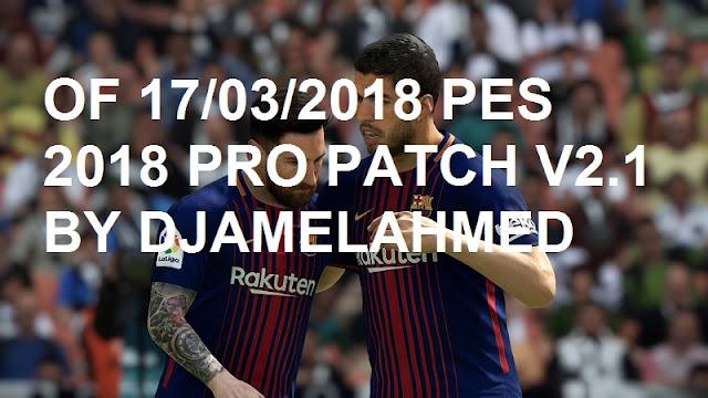 Optian File PES 2018 untuk PES Professionals V2.1 update 17/3/2018