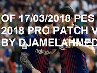 Option File PES 2018 untuk PES Professionals V2.1 update 17/3/2018